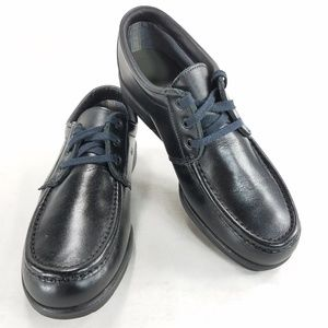 Red Wing Black Leather Oxford Derby Moc Toe Shoes